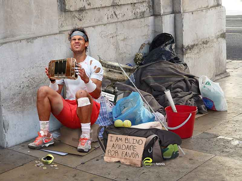 Rafael Nadal ruined pimpmytennis funny tennis