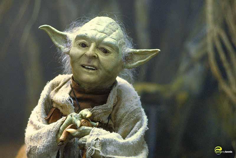 Star Wars Yoda pimpmytennis funny tennis