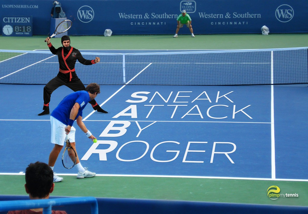 Federer SABR ninja funny tennis pimpmytennis