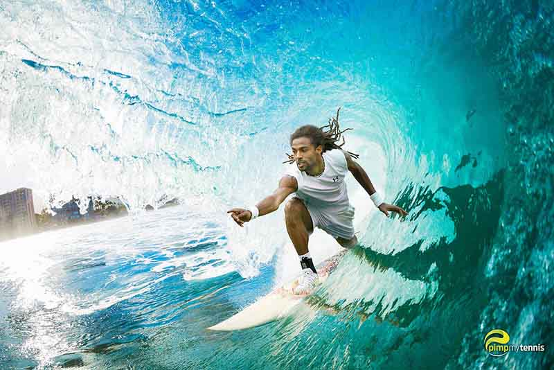 Dustin Brown surfer funny tennis pimpmytennis