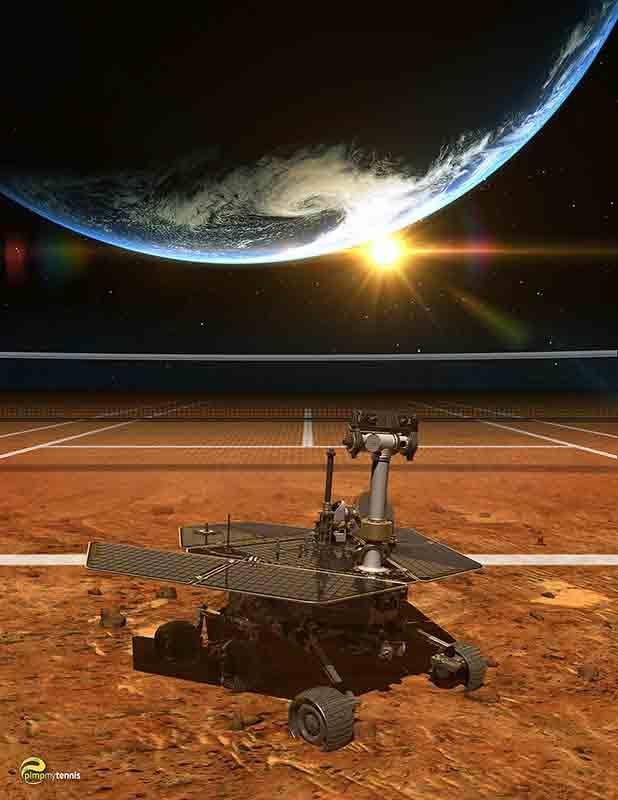 Mars Opportunity funny tennis pimpmytennis