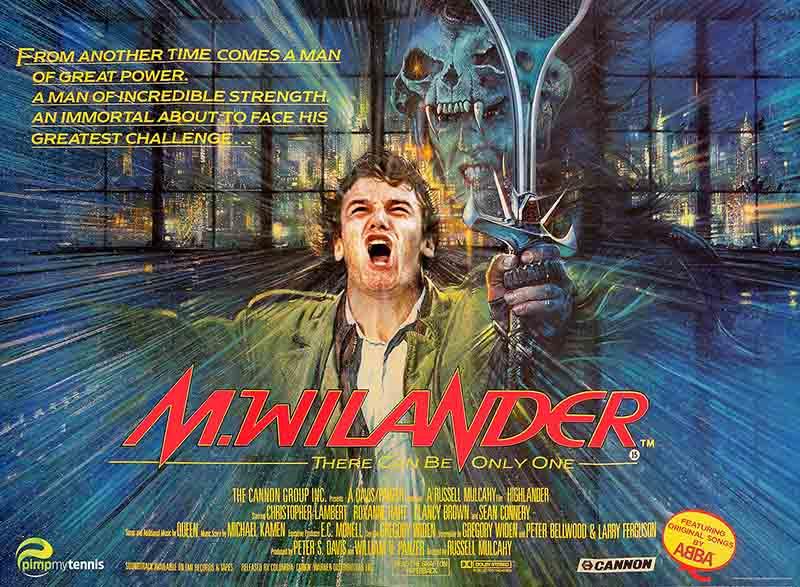 Mats Wilander Highlander funny tennis pimpmytennis