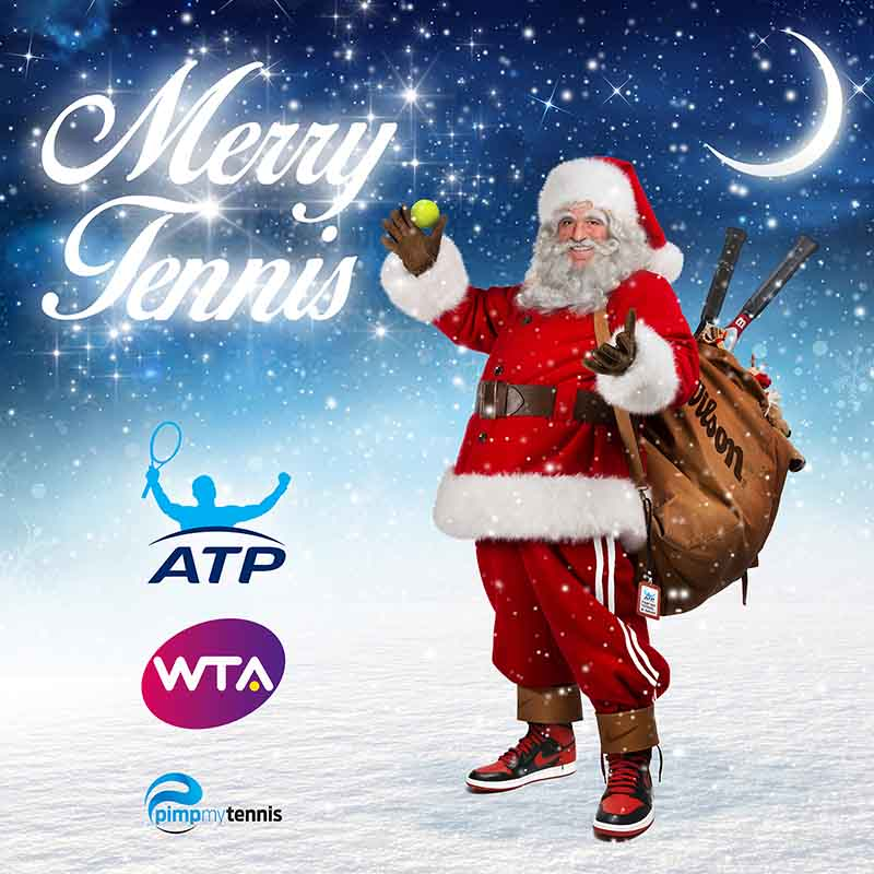 Mansour Bahrami Christmas funny tennis pimpmytennis