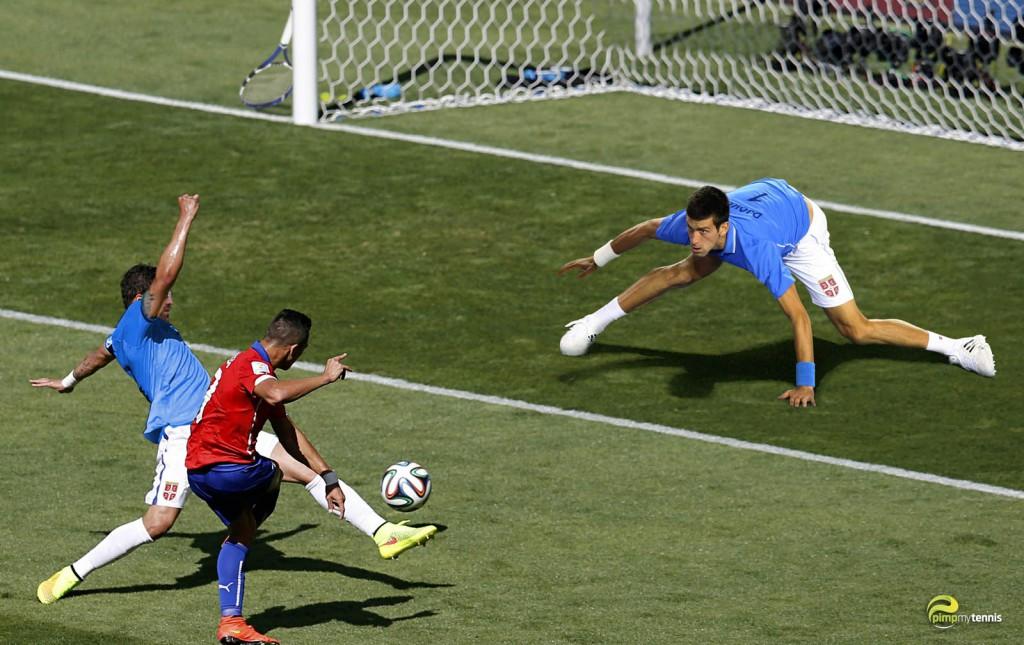 #Djokovic football soccer funny tennis pimpmytennis