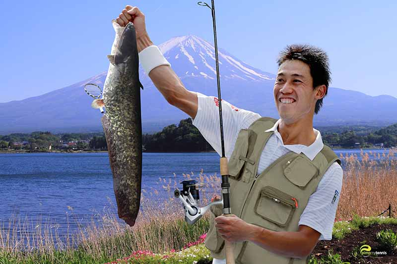 #Nishikori Mont Fuji funny tennis pimpmytennis