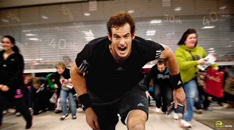 Andy Murray running funny tennis pimpmytennis