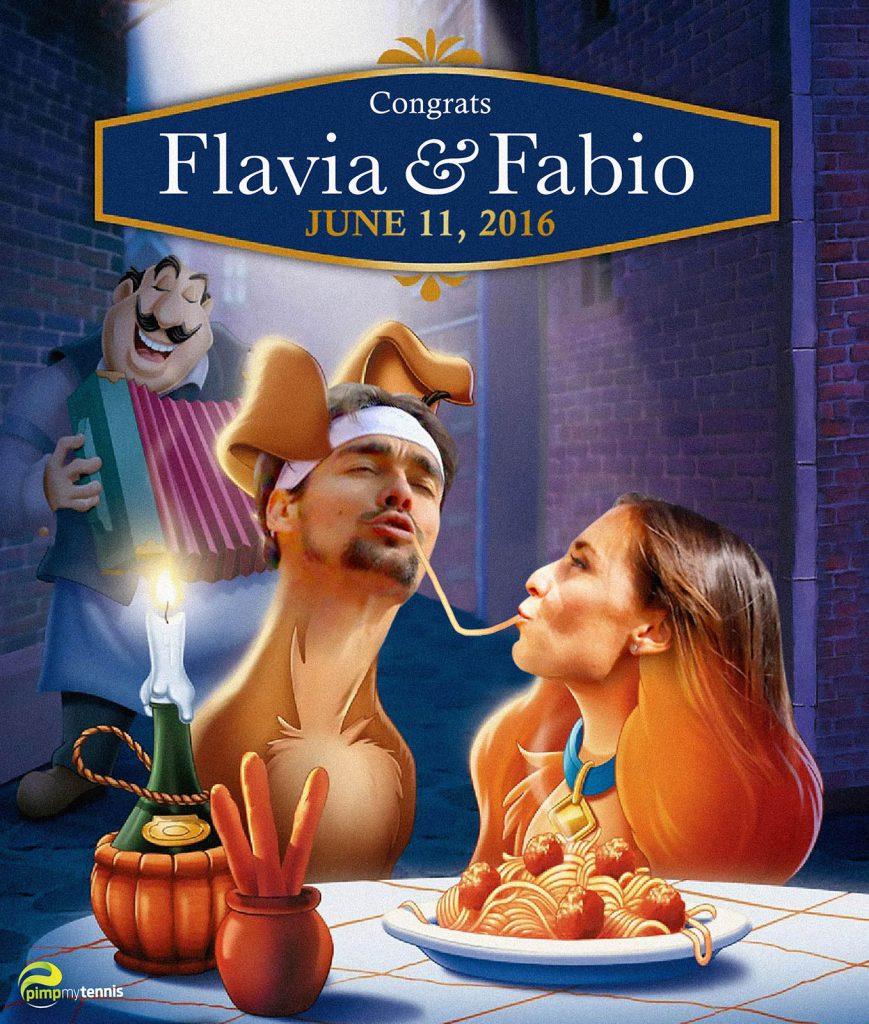 Flavia Pennetta et Fabio Fognini