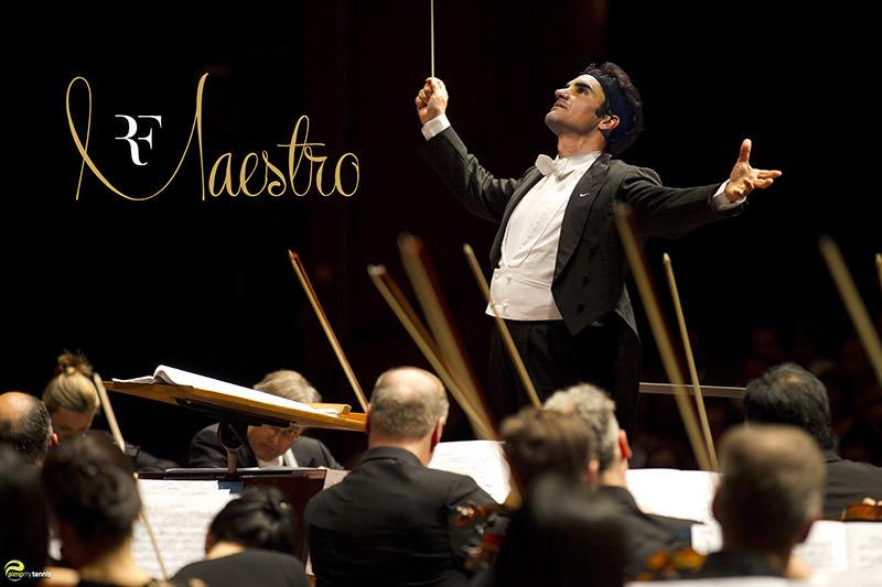 roger federer maestro orchestra retraite