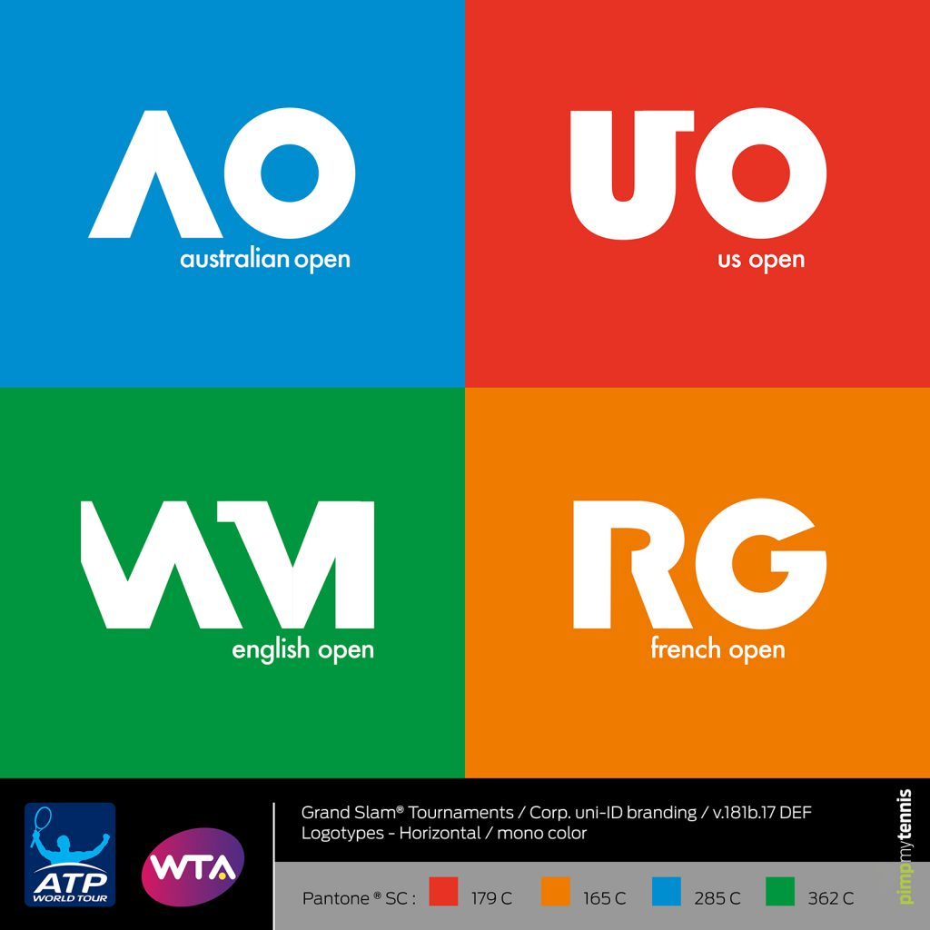New logotypes for the ATP/WTA Grand Slam tournaments