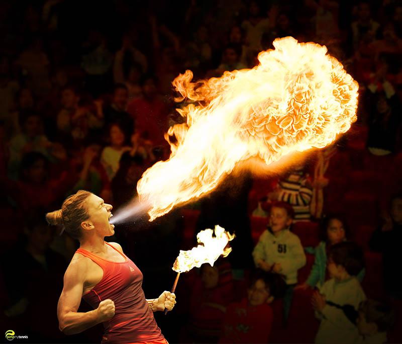 Simona Halep on fire