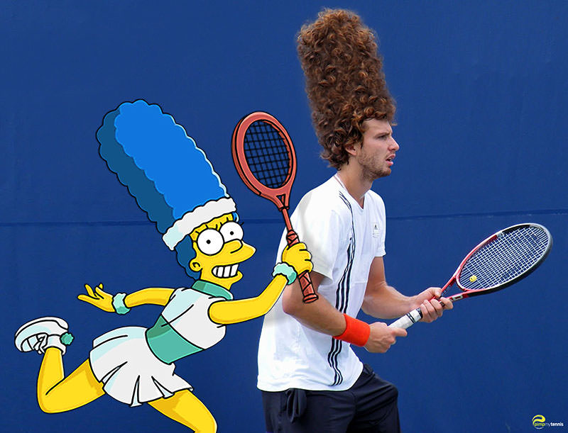 Ernests #Gulbis Marge Simpson tennis haircut