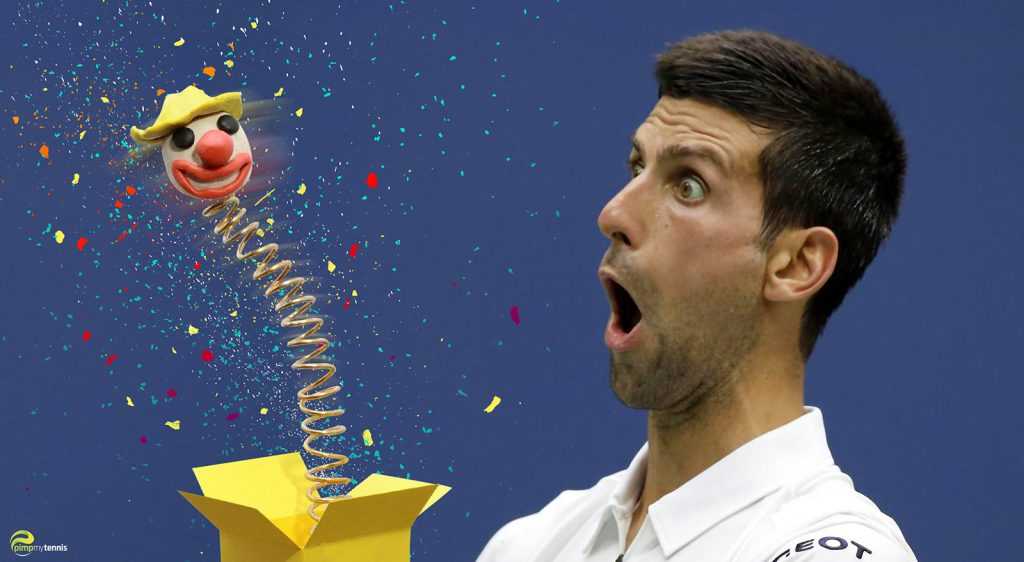 Novak Djokovic Jack in a box